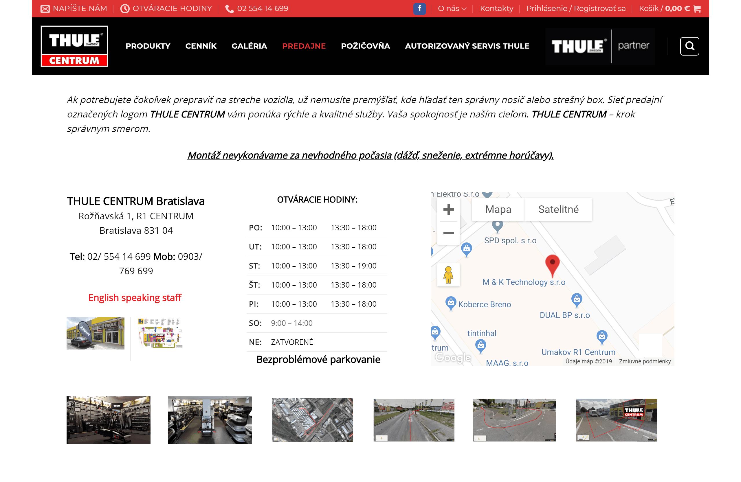 Redizajn eshopu Thulecentrum.sk